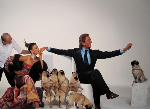 Pic of Valentino Garavani and pugs