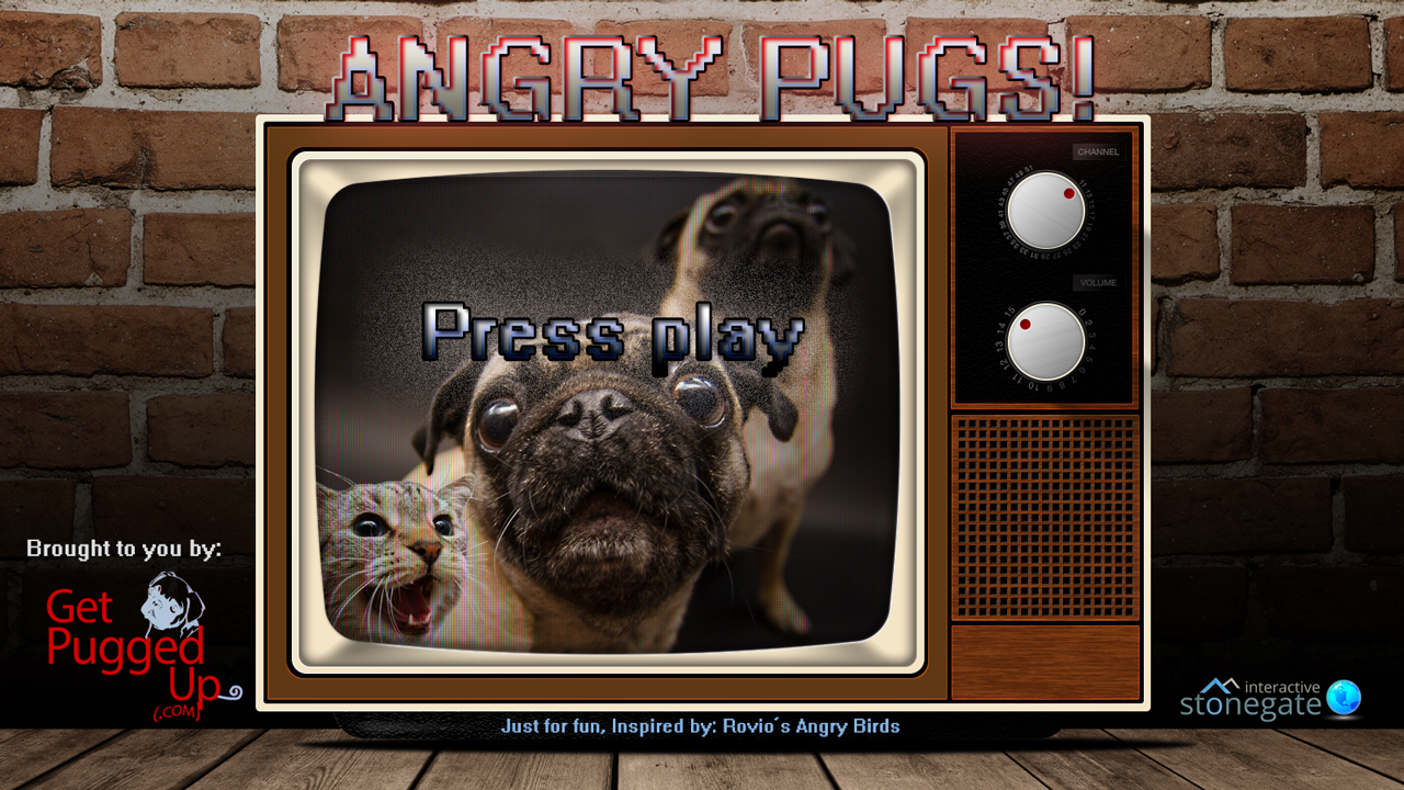 Angry Pugs title page image